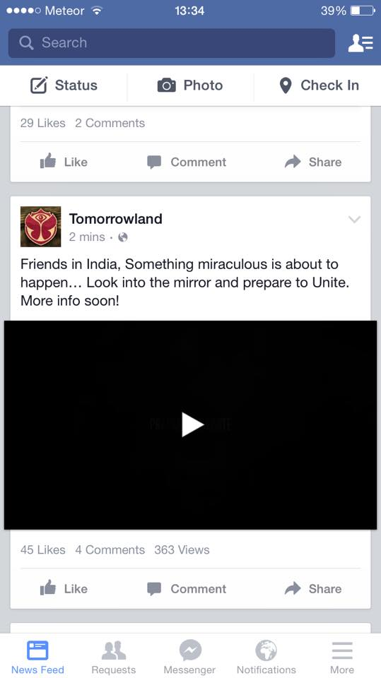 Screenshot de la vidéo publiée par Tomorrowland.