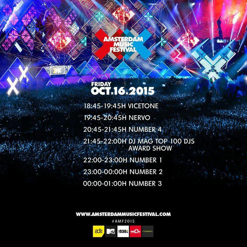 amsterdam music festival 2015 lineup