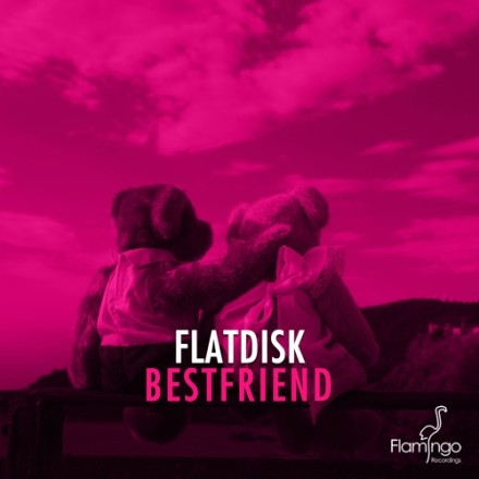 Flatdisk bestfriend flamingo