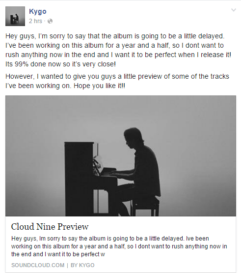 kygo album cloud nine