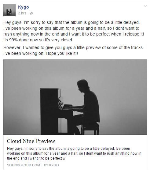 kygo album cloud nine