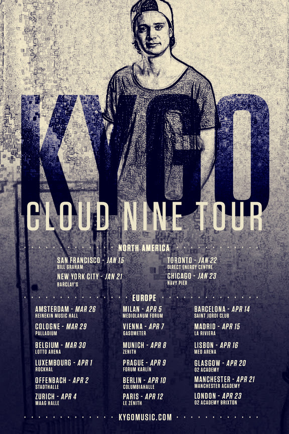 kygo cloud nine tour dates