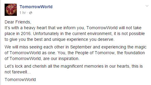 tomorrowworld annonce