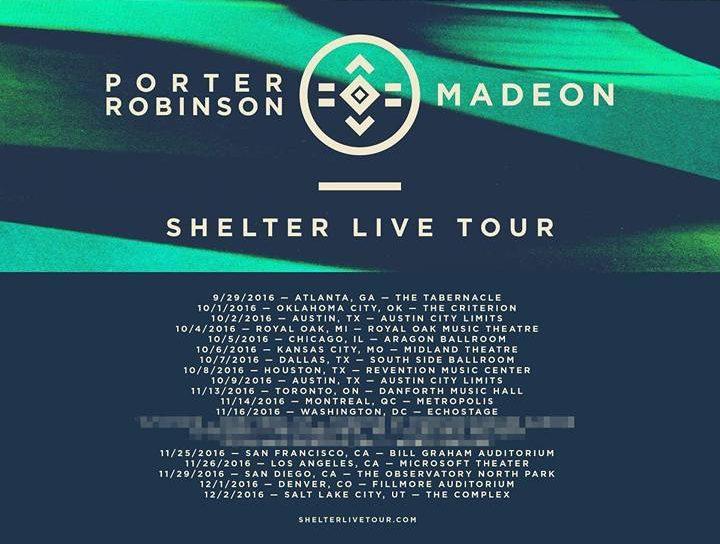 porter robinson madeon shelter tour